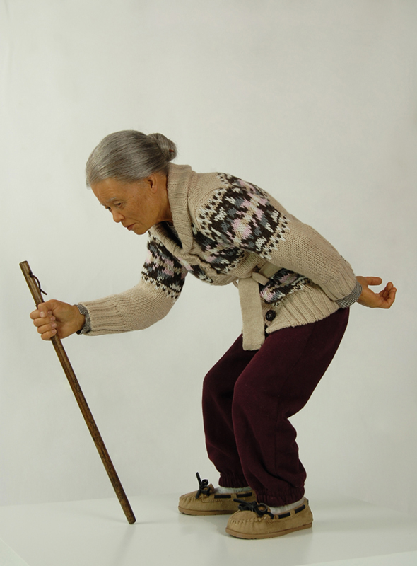 Old Lady with a Walking Stick