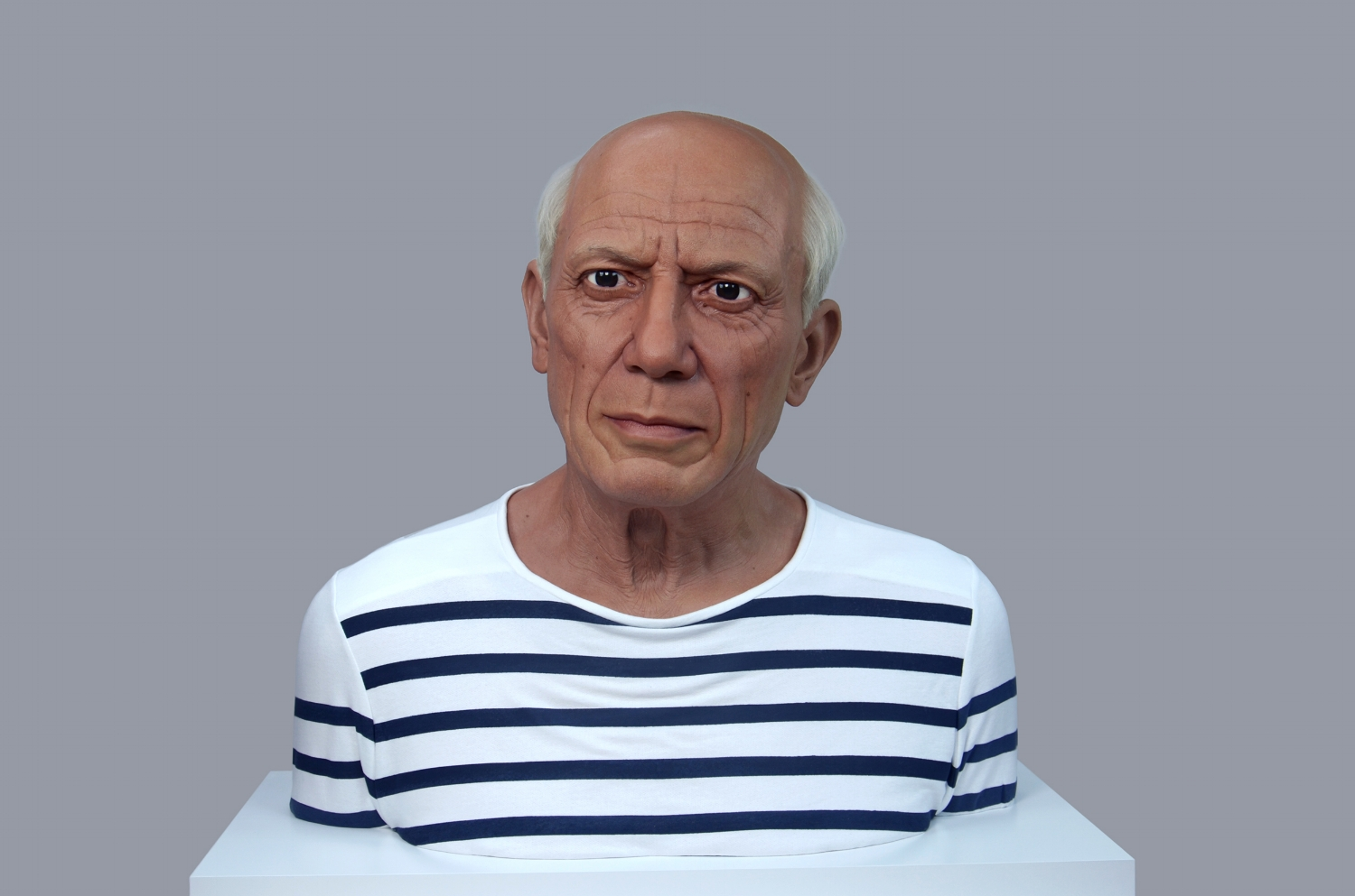 """Pablo Picasso"" - Silicone and mixed media"