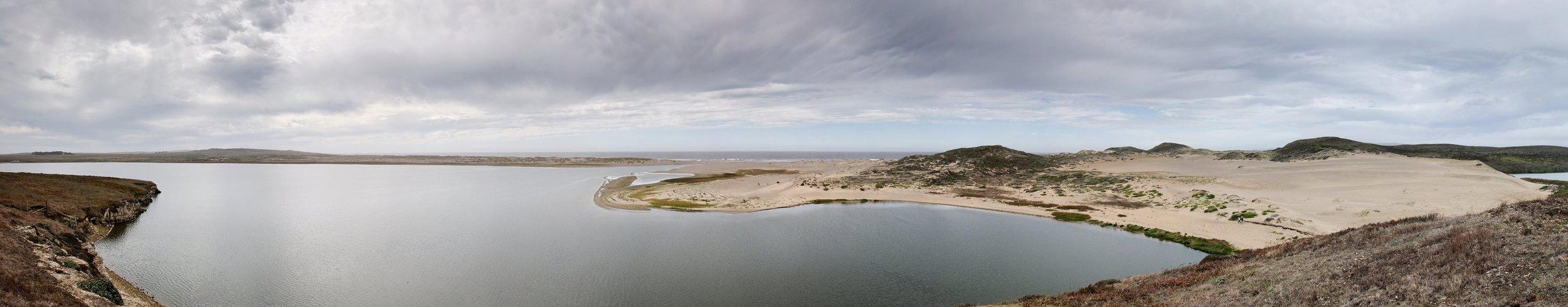 """abbotts lagoon panorama 2   up to 17"""" x 88""""  2009"""