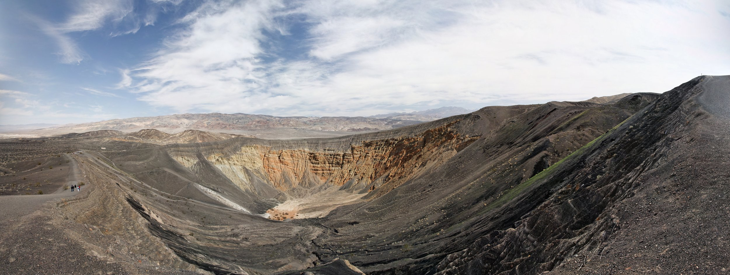 """ubehebe crater panorama 3   up to 27"""" x 72""""  2009"""