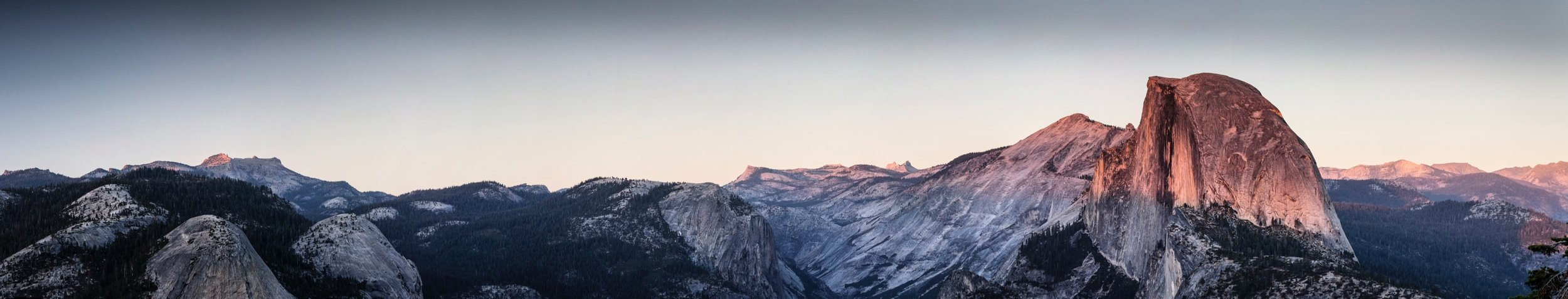 """glacier point panorama 1   up to 17"""" x 88""""  2010"""