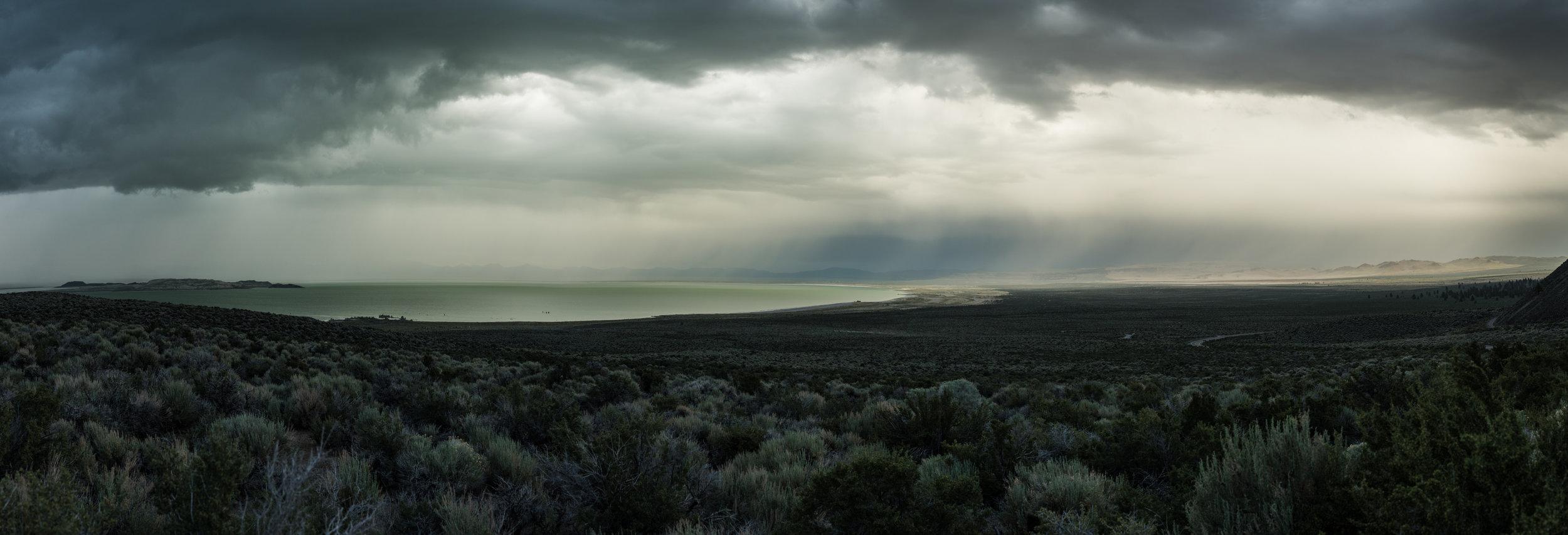 "mono lake panorama 1   up to 46"" x 136""  2016"
