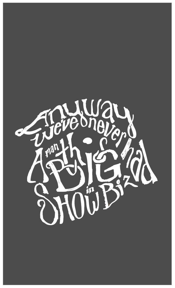 """Show Biz"" lyric poster"