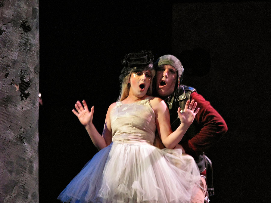 As Blondchen with Brian Thorsett as Pedrillo, Berkeley Opera