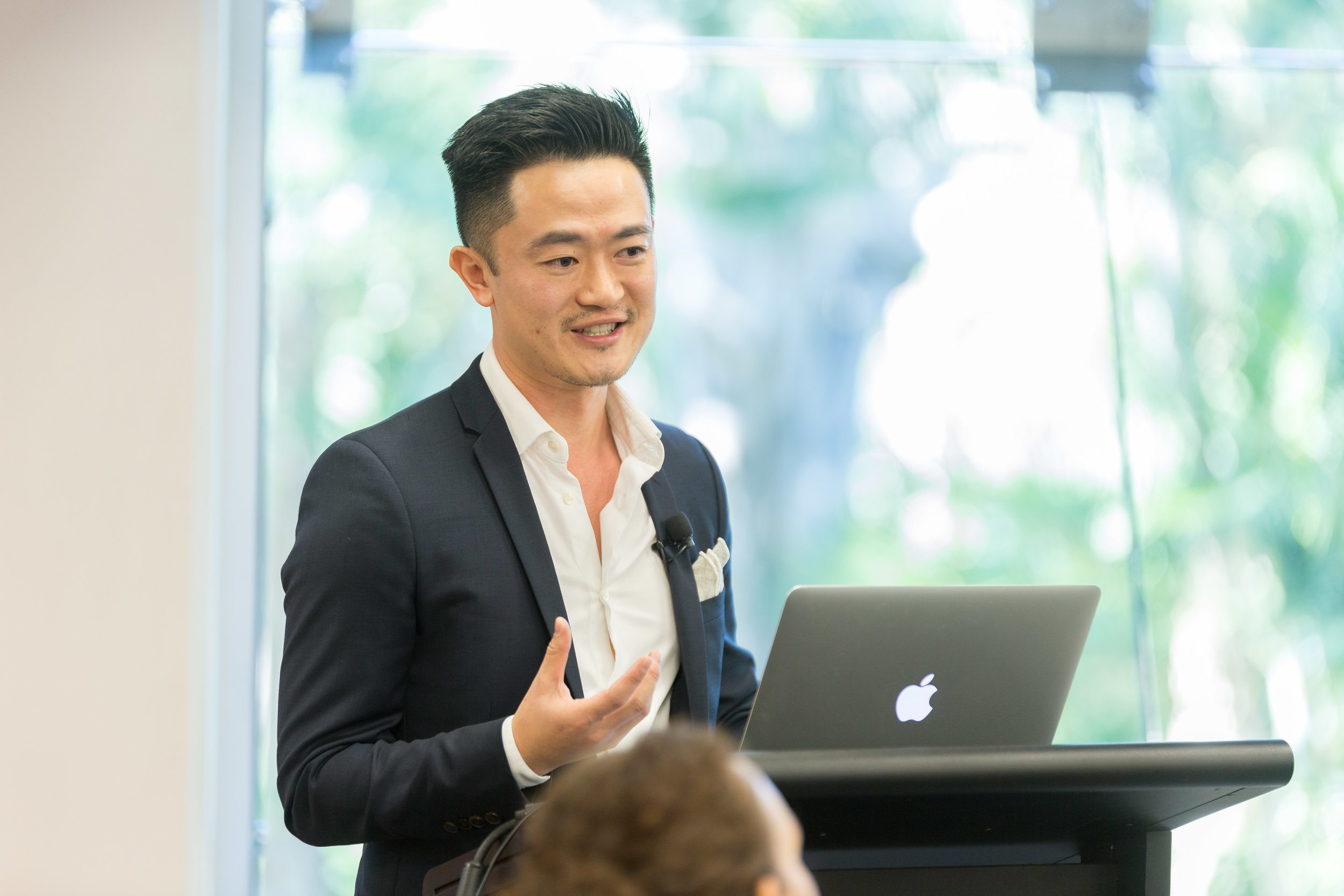Mr Benjamin Law enthralls the audience at QUT