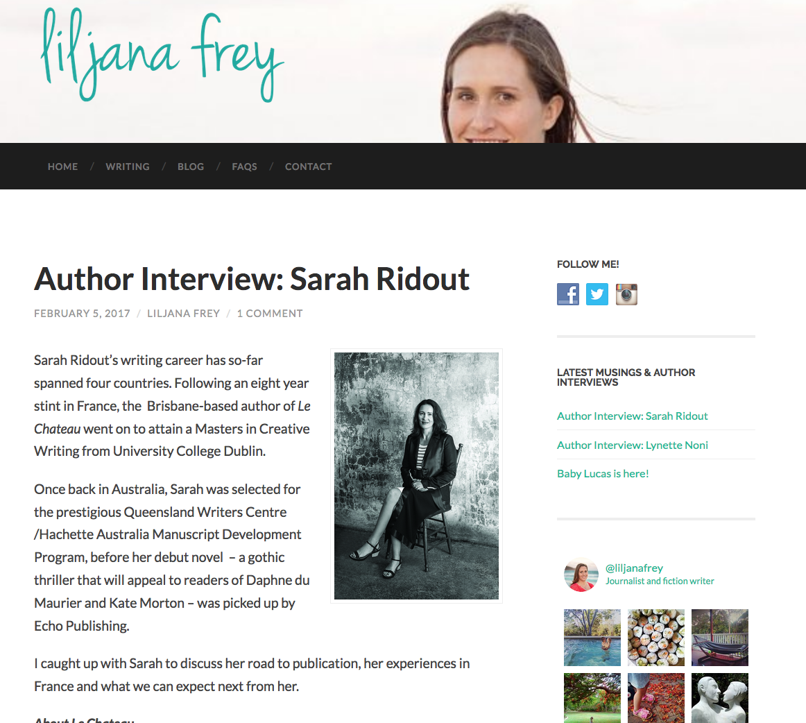 http://www.liljanafrey.com/author-interview-sarah-ridout/