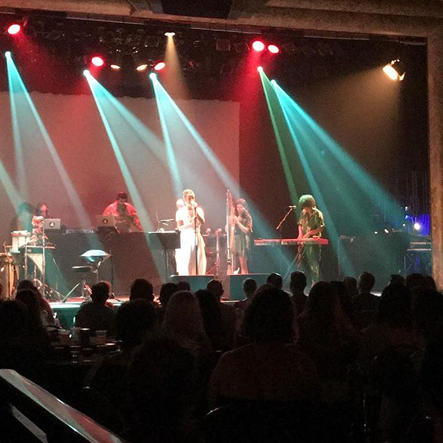Thrilled 😁 to see #NenehCherry '#brokenPolitics final show in Australia @thetivolibrisbane (encore of 'Seven Seconds' & 'Buffalo Stance' shook the roof). Note to #auspol the #manus hunger strike was referenced in the set design (photo 3) ... 🙏🏼thanks @nenehcherryofficial & band ❤️👏my youngest' first concert too 😍#livemusic #creativity #icon #strongwoman #authorslife #writersofinstagram #writerslife #artislife