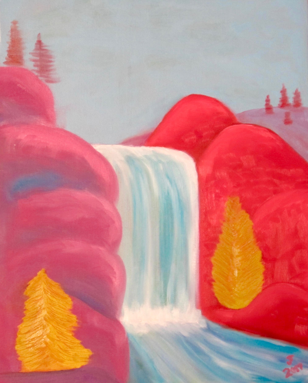 Red Rock Falls - Oil on Canvas18 x 24Now residing in Sanford, ME