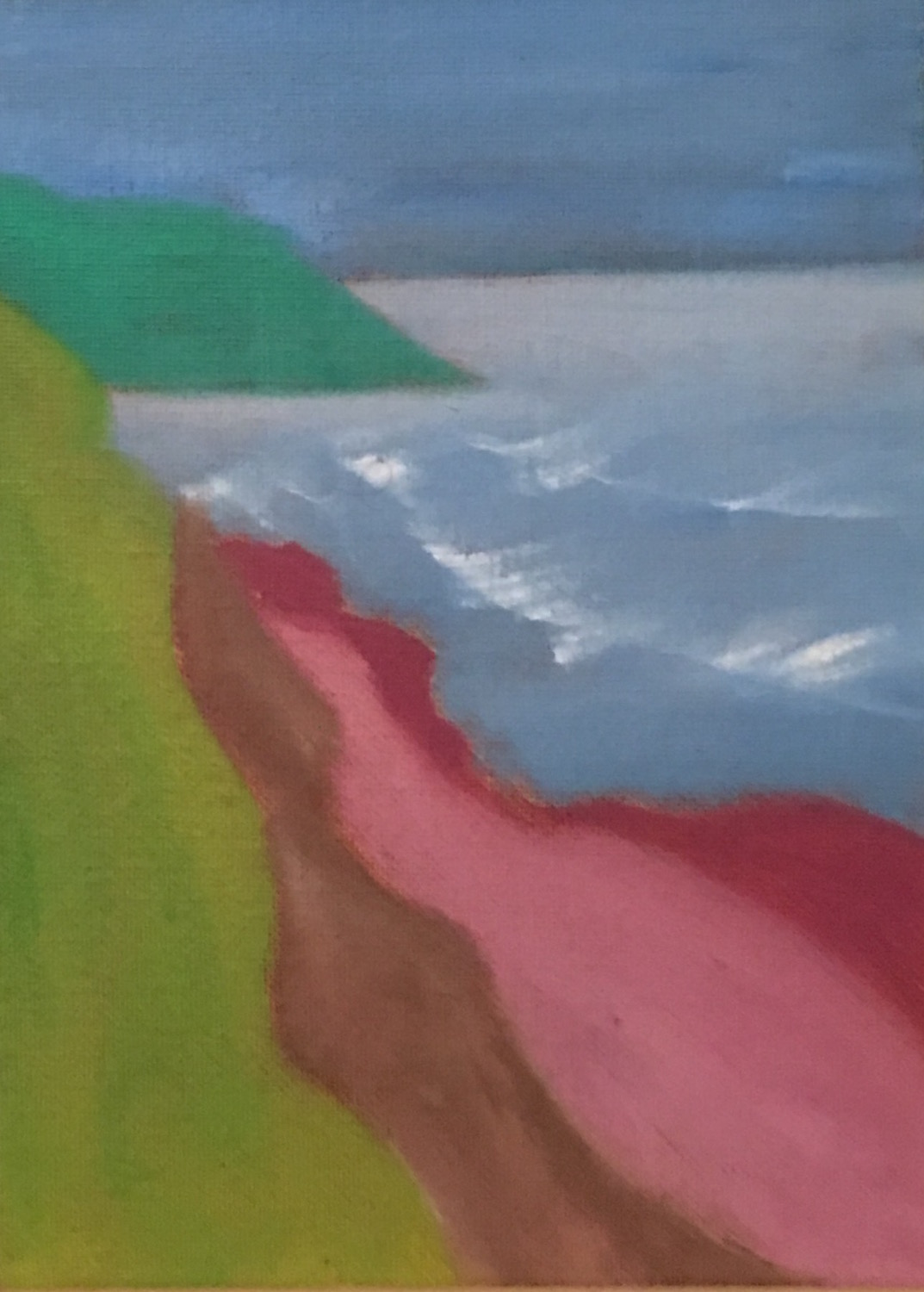 From the Top of the Dune - Oil on Canvas Panel6 x 8Now residing in New Hampshire