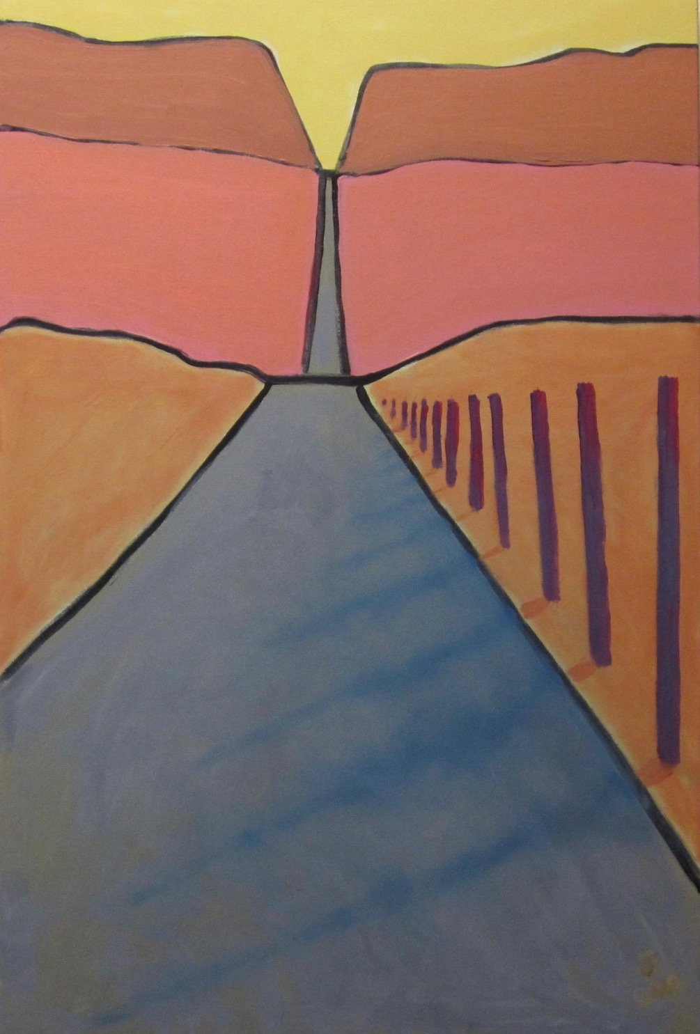 Desert Road - Oil on Canvas30 x 40Now Residing in Maine with Jack