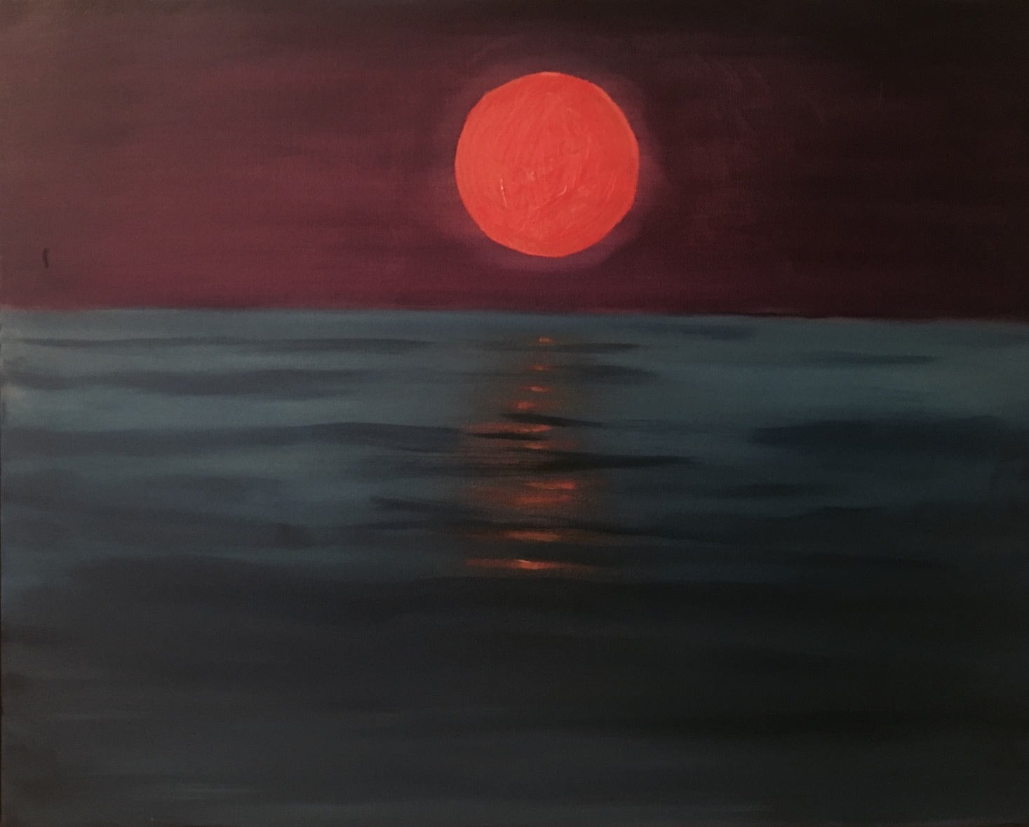 Marmalade Moon - Oil on Canvas24 x 30Now residing in Port Chester, NY