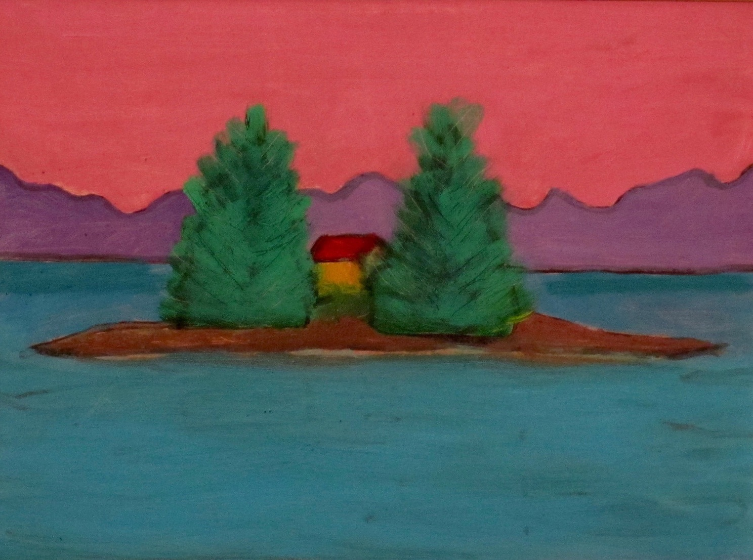 Study for Two Tree Island - Oil on Canvas Panel6 x 8Now residing in Rye, NH