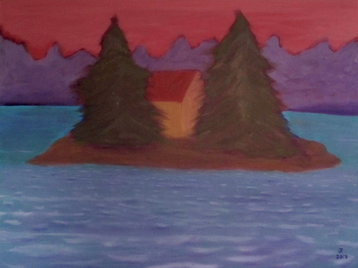Two Tree Island - Oil on Canvas30 x 40Now residing in Port Chester, NY