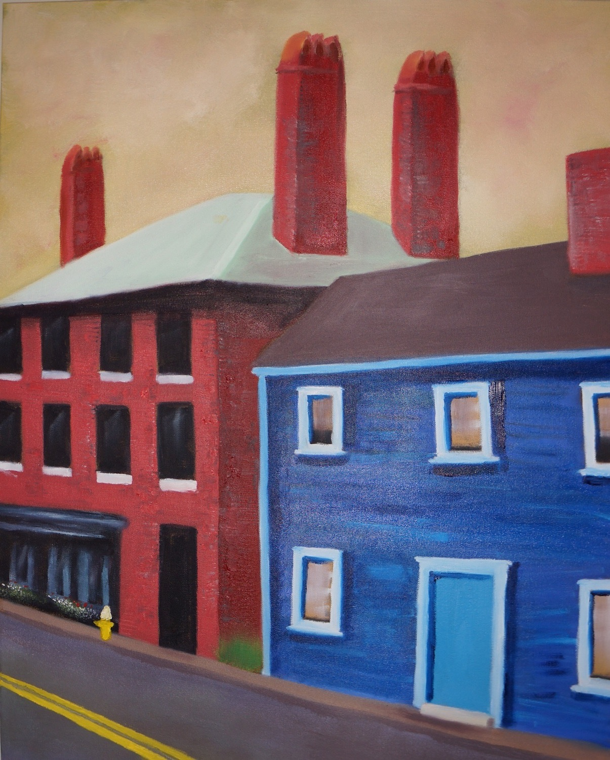 Red House/Blue House - Oil on Canvas24 x 30Now residing in Rye, NH