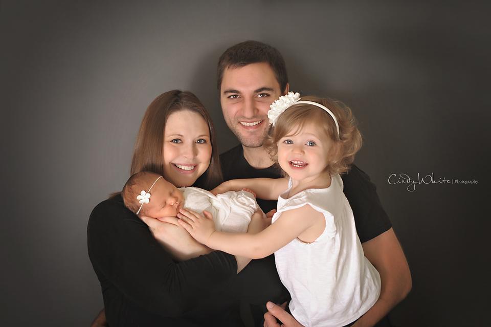 newborn with family culpeper va newborn photographer