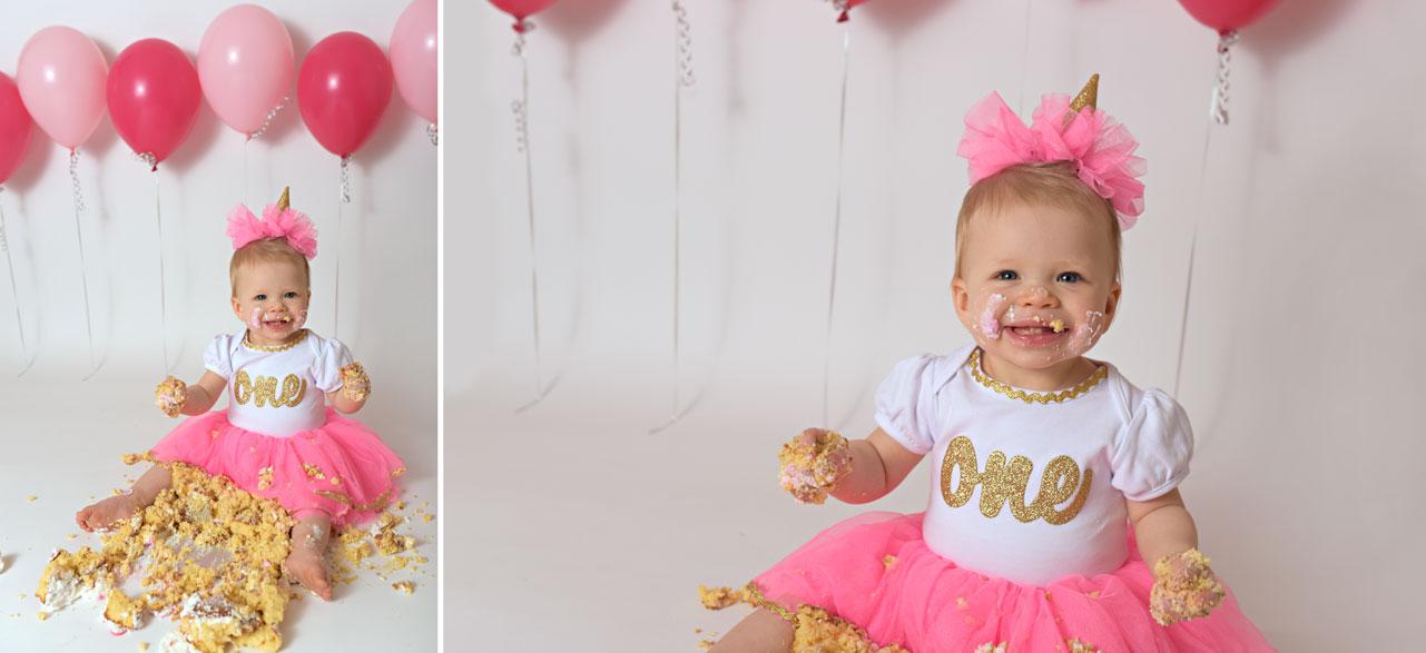 culpeper, va baby 1st birthday cake smash photo