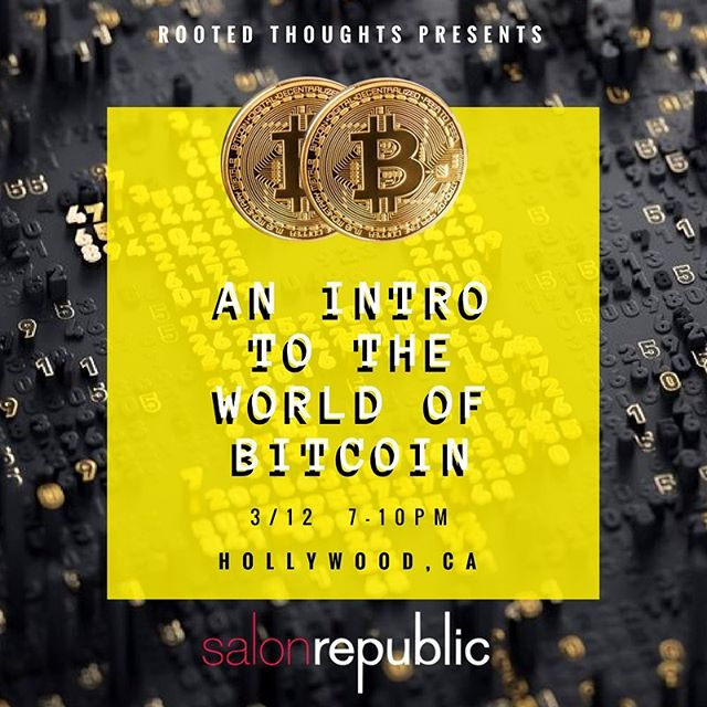 """RepostBy @brockergo: """"Have you ever wondered what Bitcoin is? Or maybe what it's not? Have you even ever heard of Bitcoin? Well here is your chance to find out """"What the heck Bitcoin is and what it's not"""" @RootedThoughts is presenting: AN INTRO TO THE WORLD OF BITCOIN on Monday, March 12th at @SalonRepublic in Hollywood, CA. Hosted by @MitchellCantrellbeauty & Presented by @Brockergo w/ Special Guest @DreHair The event is from 7pm to 10pm This event will open your eyes to the world of Bitcoin and Blockchain Technologies. This is the future and it is going to revolutionize every aspect of our lives. If you have ever wanted to know what Bitcoin is and how it truly works… Well this event is for you! I will be breaking down the 4 aspects to Bitcoin and Blockchain Technology. You will leave this event, with a new perspective on life and technology and how these two aspects will come together in the future. Bitcoin is not just a future currency it is a true technological revolution. This is truly the beginning of something great and I want to share my own personal journey with you over the past couple years.. I will be walking you through the steps of how to participate in the global crypto community as well as setting you up with your own Digital Wallet and $5 worth of Bitcoin. We will be raffling off $100 worth of Alt. Coins and don't forget about the complimentary FOOD • BEER • WINE. Pre-Sale tickets will be $20 and $30 at the door. You can purchase your pre-sale ticket's at WWW.ROOTEDTHOUGHTS.COM/arootednight  STAY TUNED FOR MORE INFORMATION! AND I WANT TO GIVE A HUGE THANK YOU TO MY BROTHER MITCHELL CANTRELL FOR PUTTING ALL OF THIS TOGETHER AND @DREHAIR FOR SETTING UP THE SPOT AND BEING A SPECIAL GUEST SPEAKER (HODL Gang) Click the link in my BIO up above ☝️☝️☝️ To Reserve your spot for the first ever """"Intro To The World Of Bitcoin"""" #RootedThoughts #ARootedNight #Bitcoin #Blockchain #HODL #ChangeTheWorld #FinTech #CryptoCurrency #Hairstyling #CryptoHair #MensHair #Fa"""