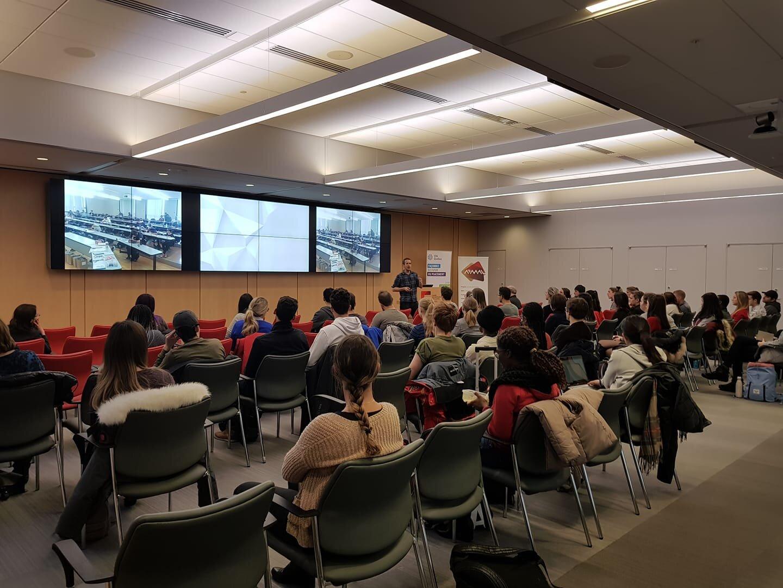 À l'Université Laval en novembre 2018. L'atelier avait seulement été annoncé aux étudiants en sciences de l'administration.