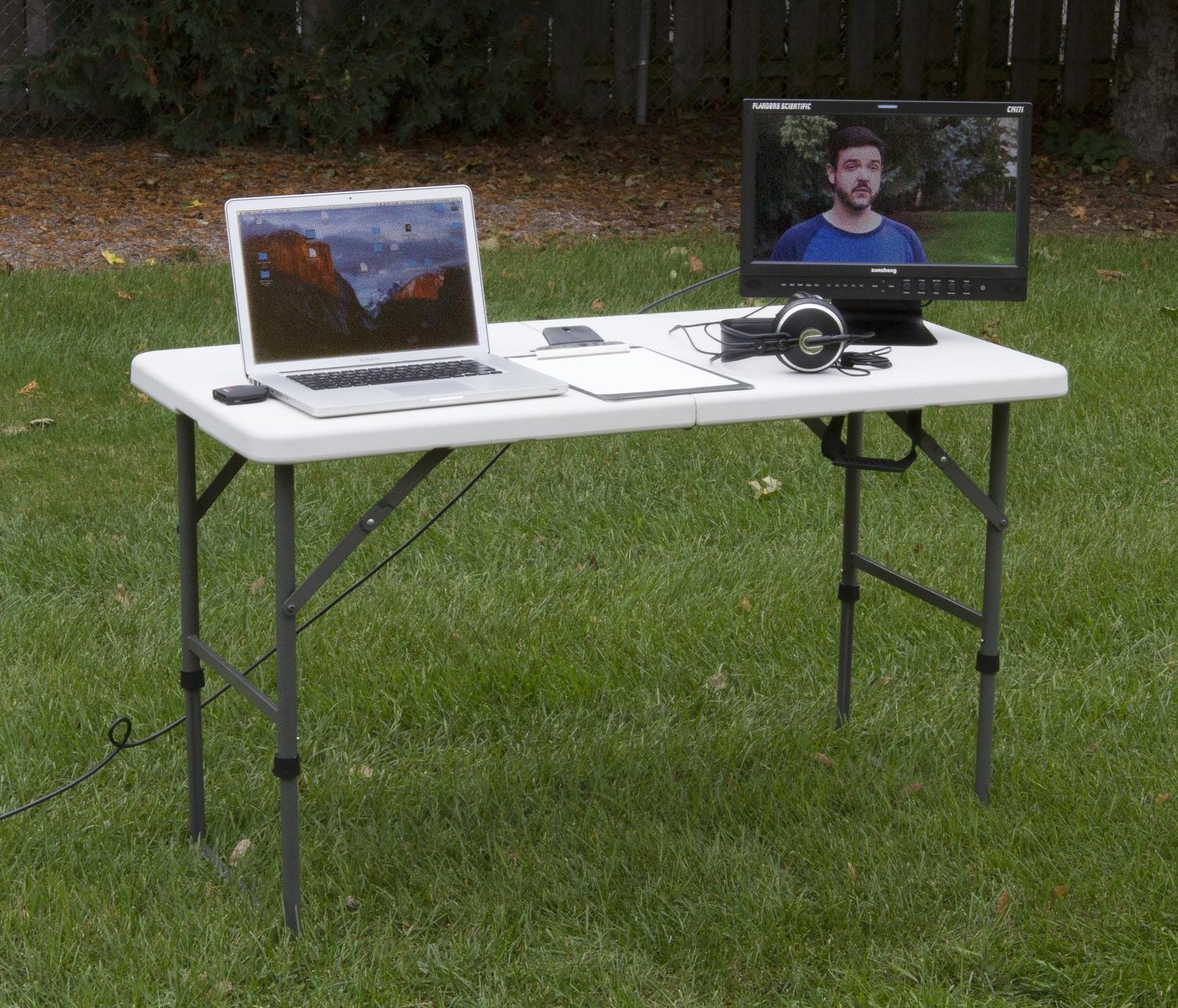 "A simple ""video village"" setup."