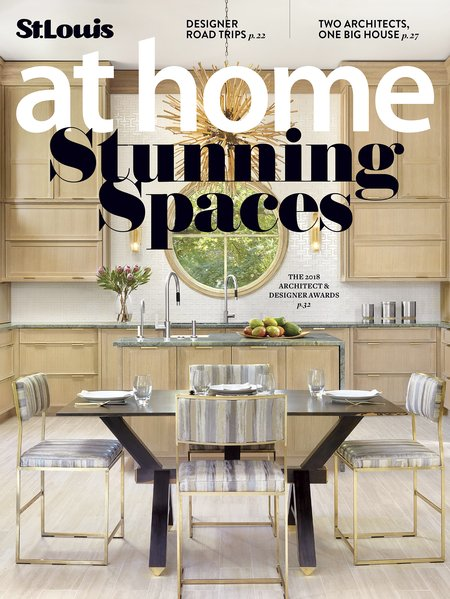 StLouis At Home, Mar '18    Tamsin Design won for Best Lower Level in a space featuring shelves, cabinets and fireplace surround by myself. I actually had to talk her into submitting!