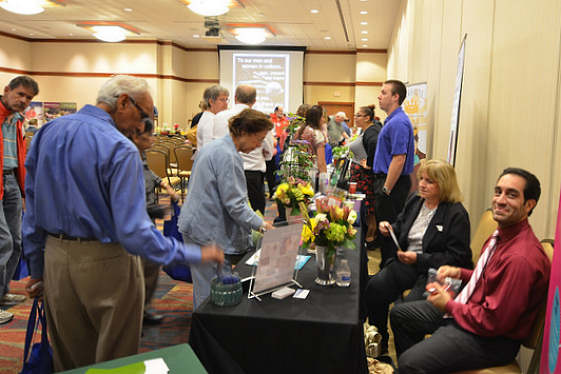 Many resources available at vendor tables