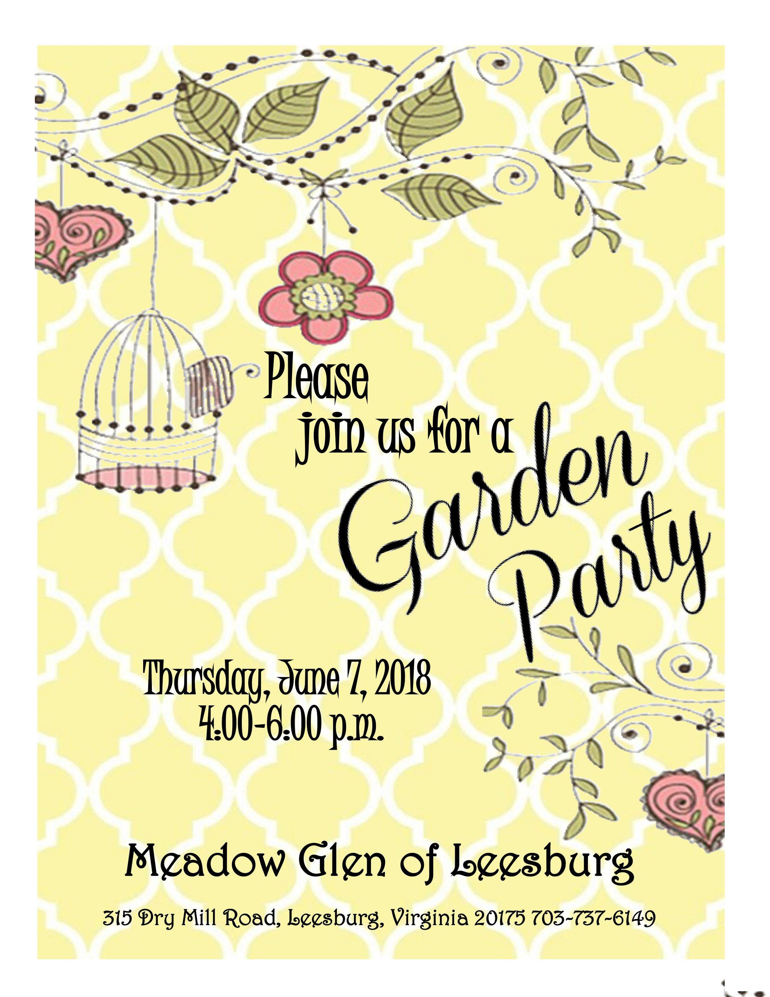 Meadow Glen Garden Party