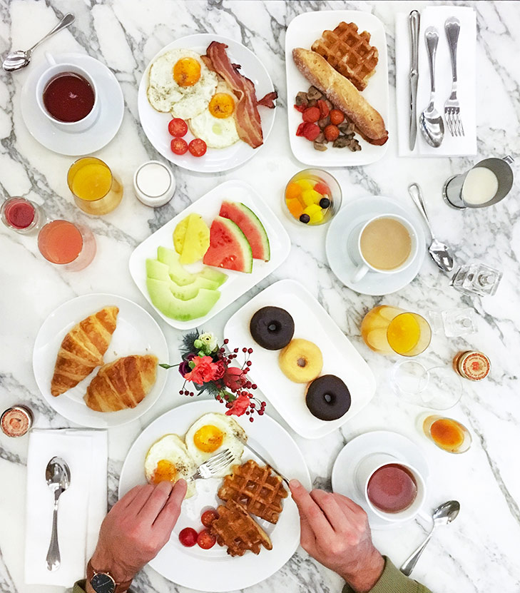Breakfast with my man, Leon Korobacz at Sofitel Brussels Le Louise. Photo by May Leong.