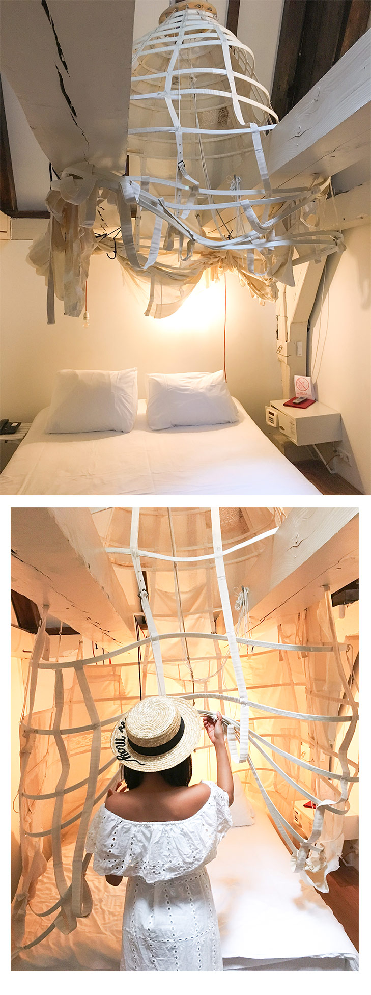 Beautiful, yet unusual rooms at Hotel The Exchange.