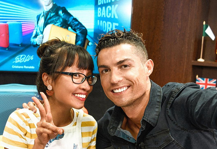 Selfie with the Cristiano.