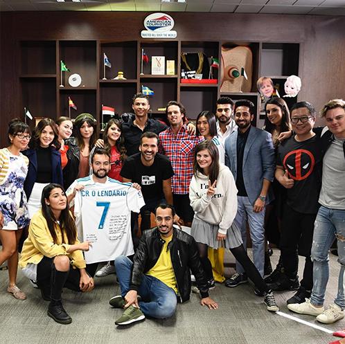 Group photo with Cristiano Ronaldo.