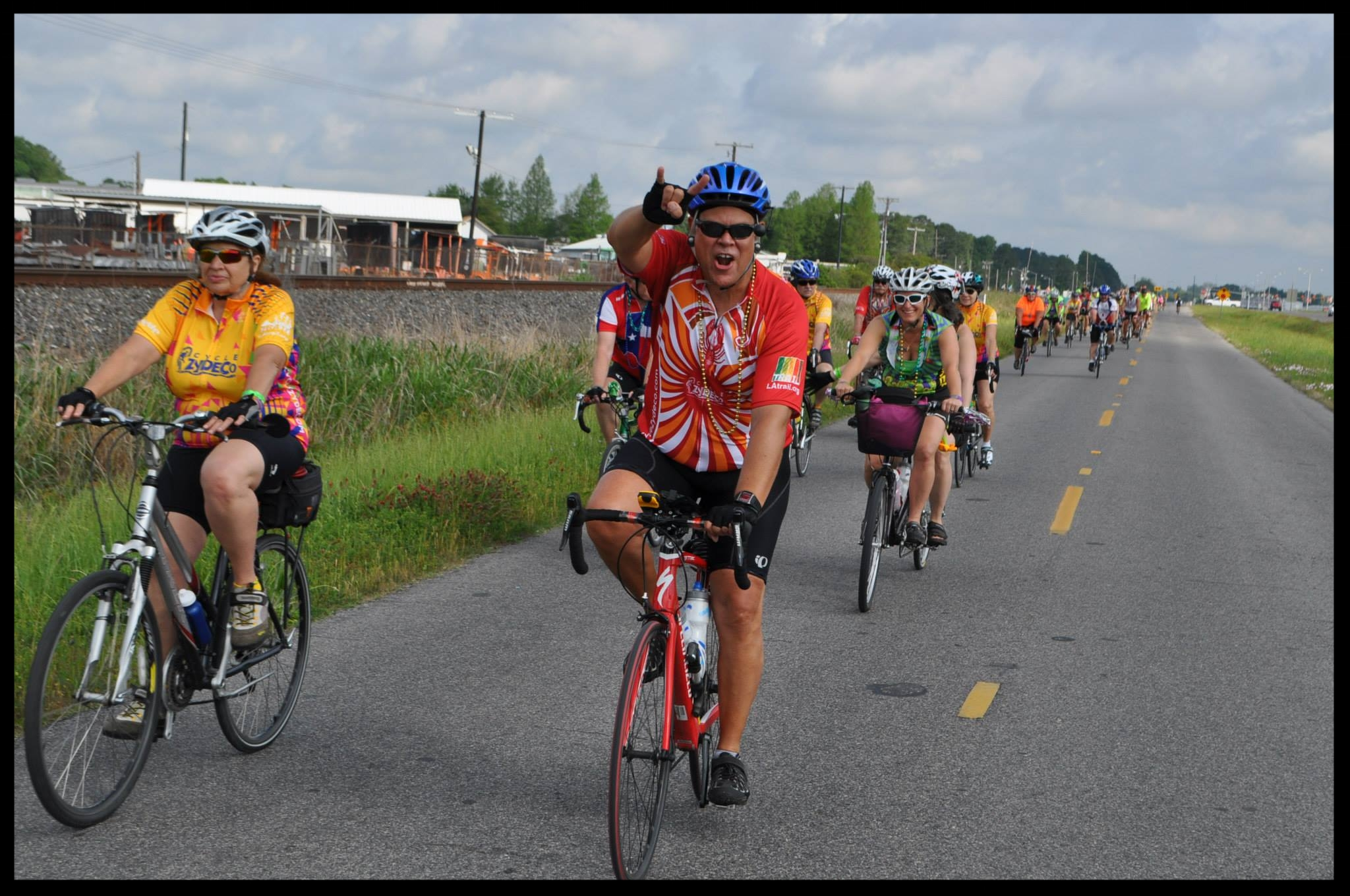 Hybrids, Cruisers, Tandems, Folding Bikes, and many many more varieties of bicycles are on the road for Cycle Zydeco.