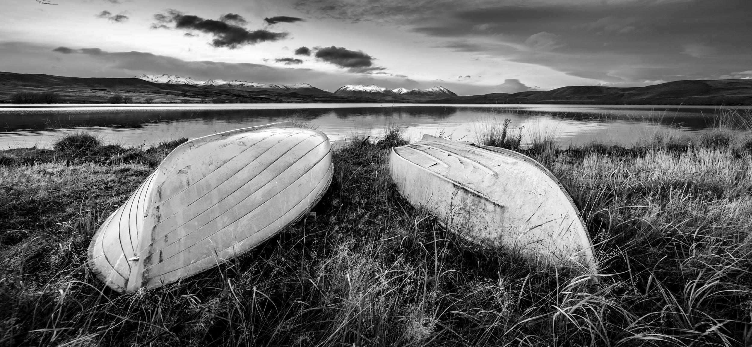 """Boat Race""  Lake Alexandrina, Mackenzie Basin, New Zealand  D800, ISO200, 1/8sec, f8, 14mm"