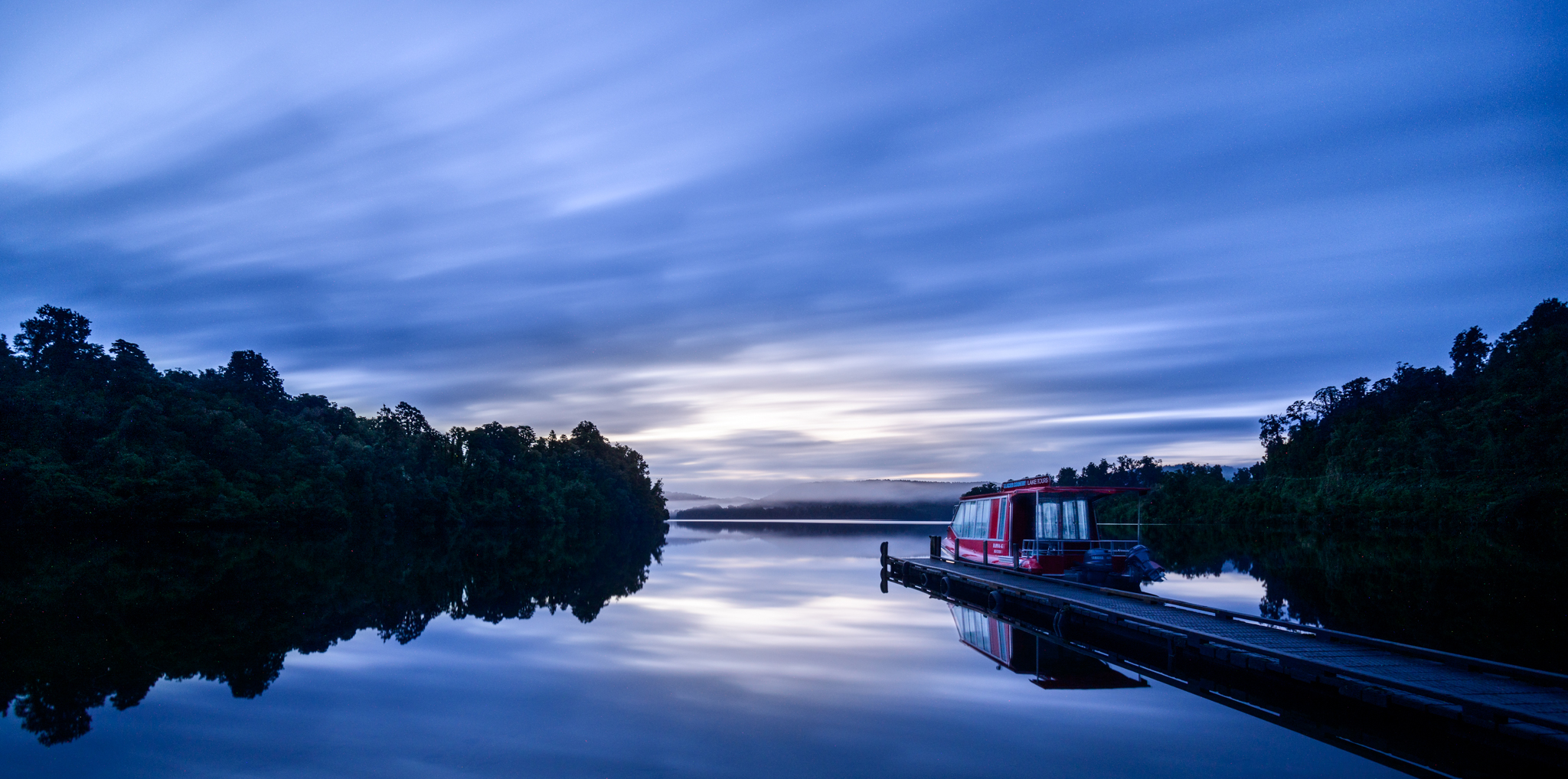 """""""Lake Tours""""  Lake Mapourika, West Coast, New Zealand  D800, ISO100, 383sec, f8, 17mm with Lee Big Stopper ND Filter"""