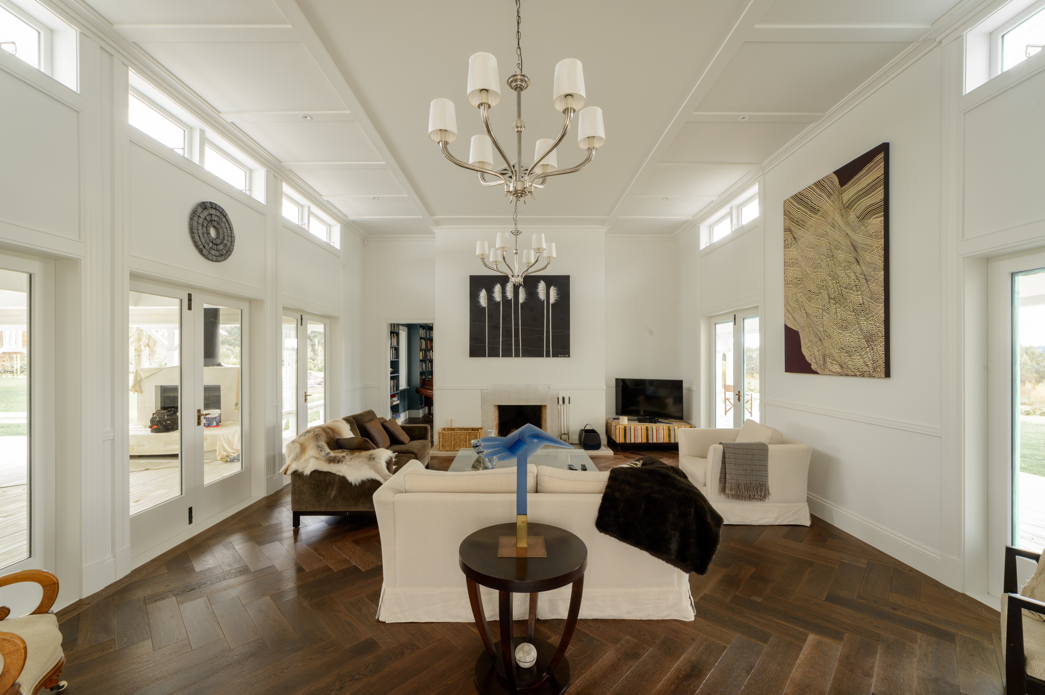 Living Room, with a verandah on 3 sides, is the heart of the house.