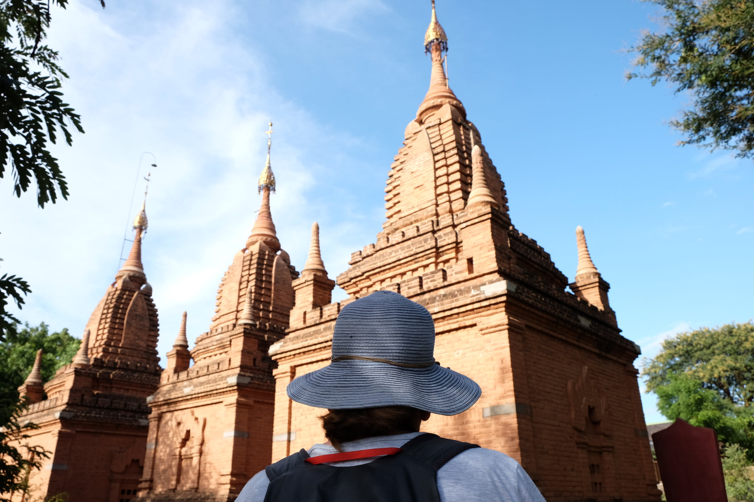 Just a few little stupa between the houses