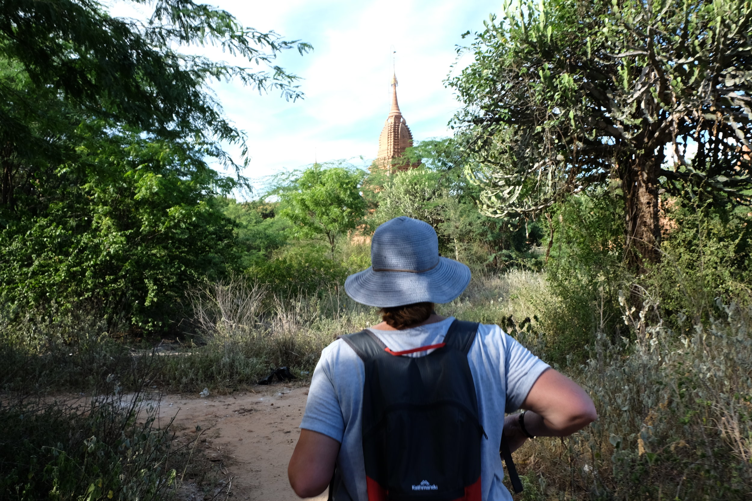 Liz the explorer discovers a stupa