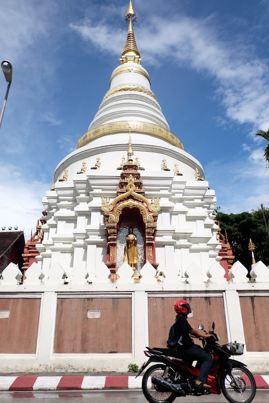 Just a random stupa you come across when walking the streets of Chiang Mai