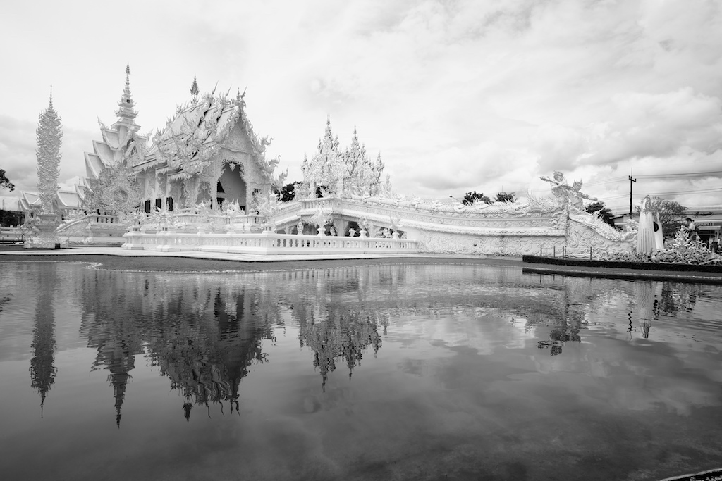 The White Temple, in black and white