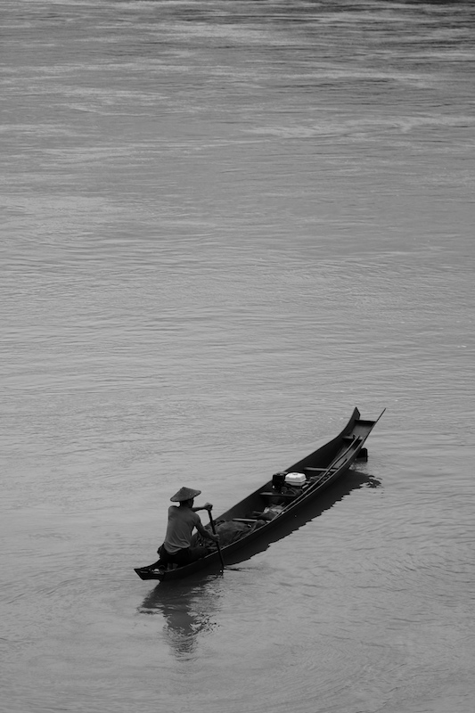 Morning fish, on the Mekong