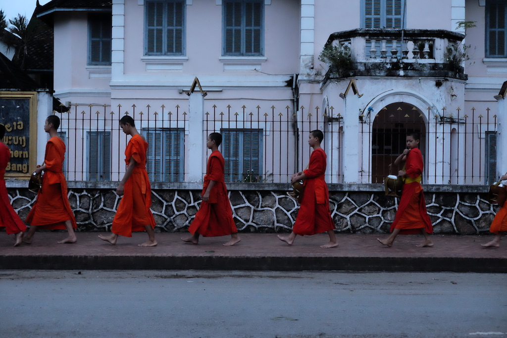Monks on parade