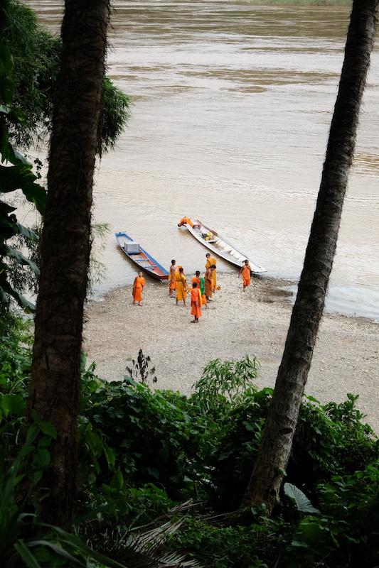 Monks on the beach
