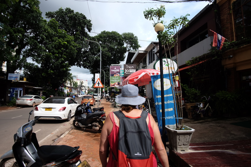 Lady in the Blue Hat explores Vientiane