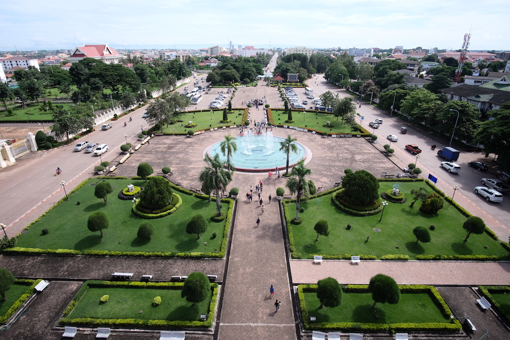 View from the top north over Vientiane