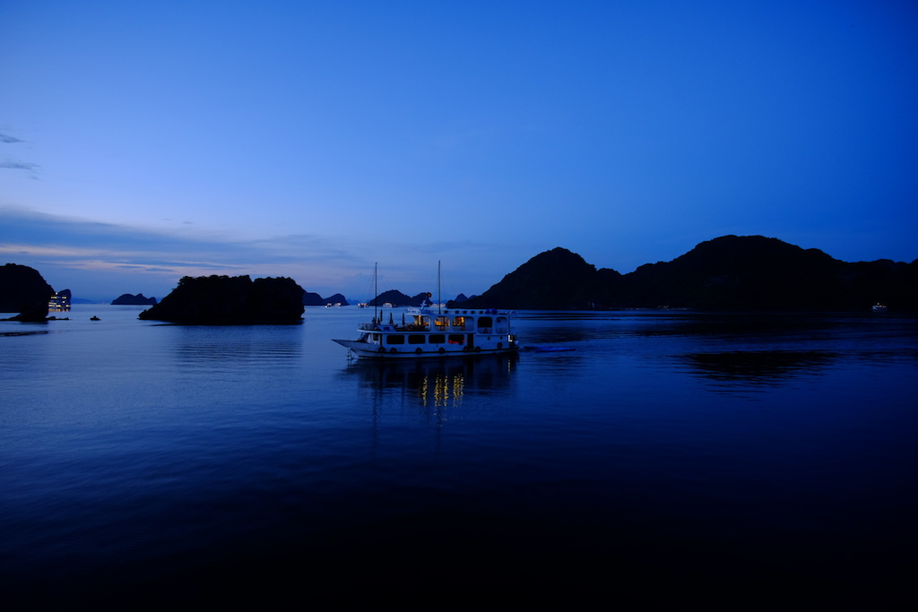 Ships passing in the blue hour