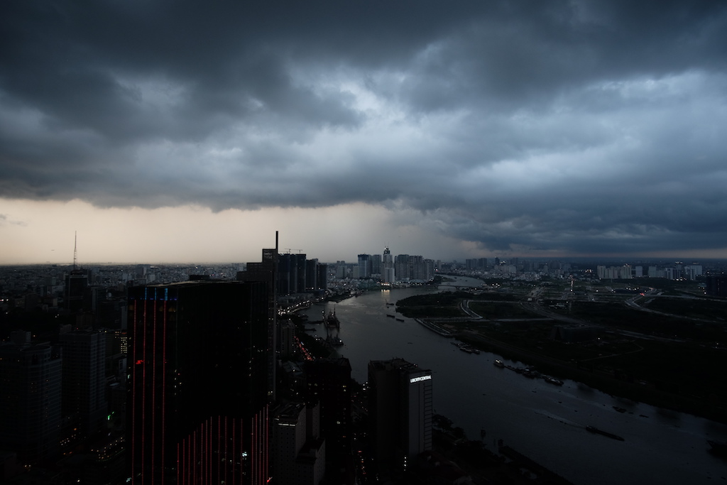 Storm coming in over the Saigon River