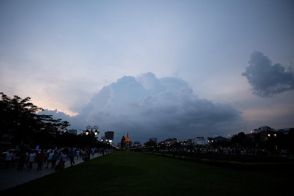 Evening stormclouds