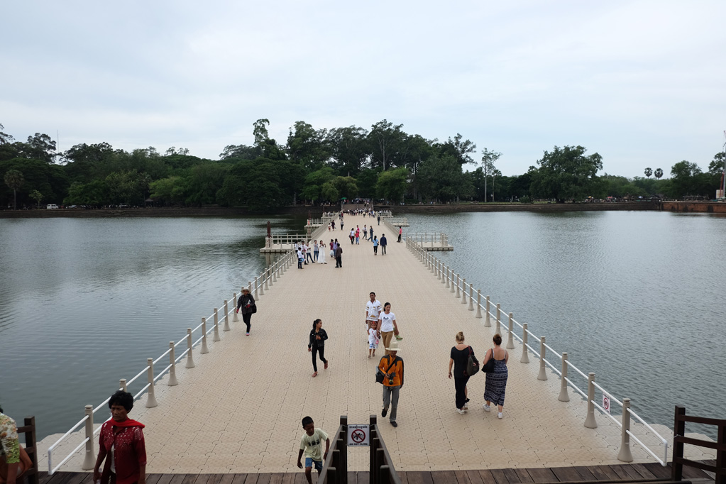 Day 1: Angkor Wat - The temporary access pontoon