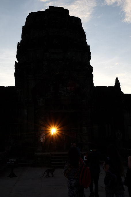 Day 3: Angkor Wat Sunset through the out door