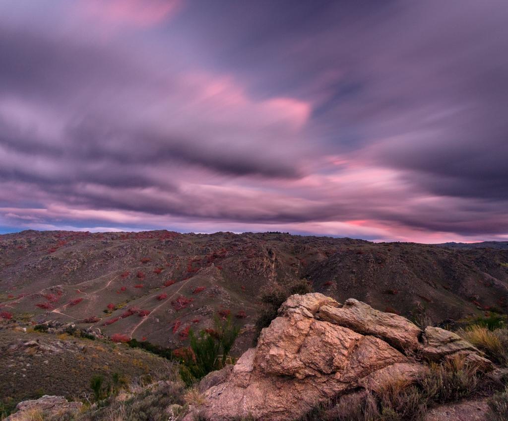 Sunset at Lookout Hill, Alexandra