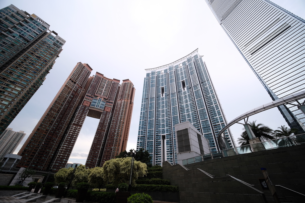 The forest of buildings, Kowloon Station